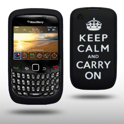 LASERED SILICONE CASE FOR BLACKBERRY 8520 BLACK/WHITE