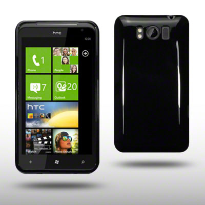 TPU GEL CASE FOR HTC TITAN SOLID BLACK