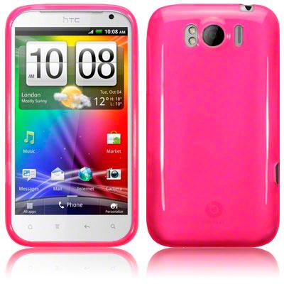 GEL CASE / COVER / SKIN FOR HTC SENSATION XL   HOT PINK