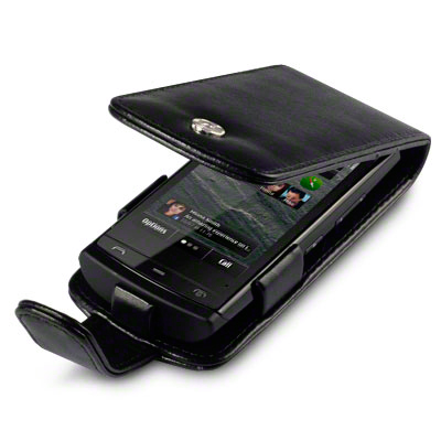 PU LEATHER FLIP CASE/COVER FOR NOKIA 500   BLACK