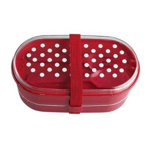 polka dot design bento lunch box cutlery set ebay. Black Bedroom Furniture Sets. Home Design Ideas