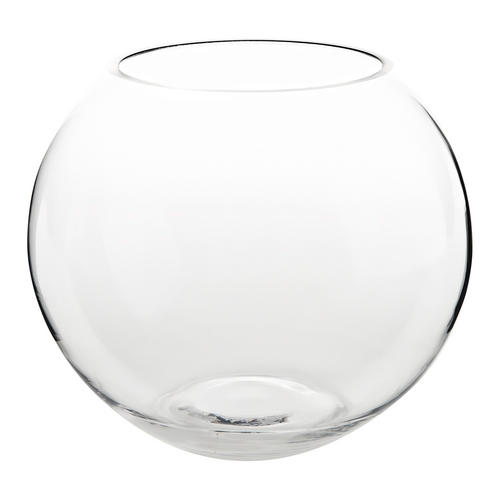 glass fishbowl flower tea light vase candle holder wedding grave round jar 12cm ebay. Black Bedroom Furniture Sets. Home Design Ideas