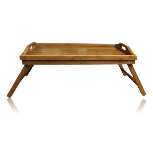 wooden bamboo breakfast in bed serving lap tray folding legs laptop table mate ebay. Black Bedroom Furniture Sets. Home Design Ideas