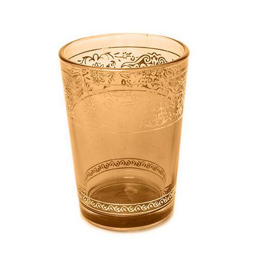 Moroccan Medina Coloured Glass T-Light Tealight T-light Holders w/ Gold Trim