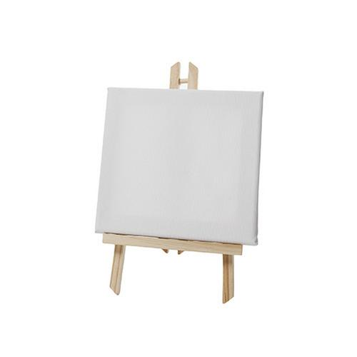 Easel w/ Canvas Wood Artist Tripod Retail POS Signage Place Setting Table Number