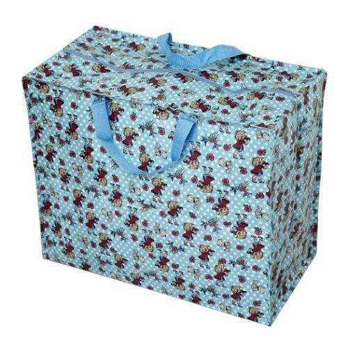 sac jumbo r utilisable en plastique pour le linge ou rangement de jouets ebay. Black Bedroom Furniture Sets. Home Design Ideas