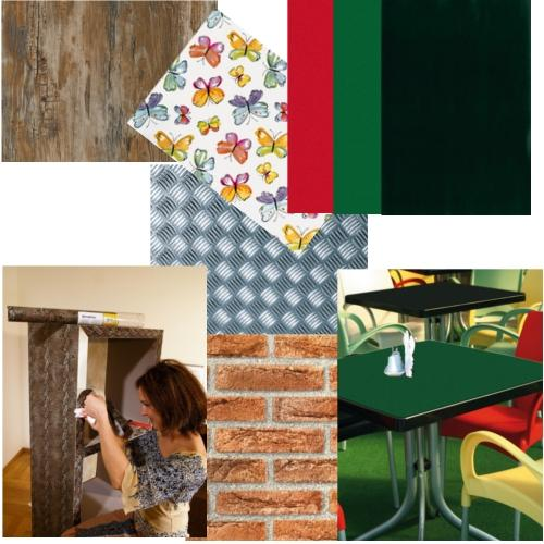 Sticky back self adhesive decorative paper vinyl films for Sticky paper for crafts