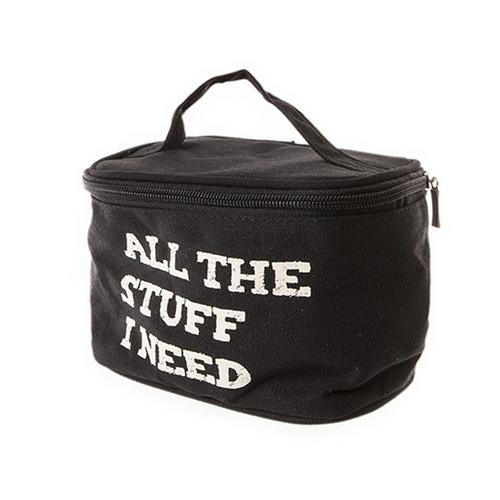 All The Stuff I Need Mens Womens Overnight Night Toiletry Travel Bag Bathroom Ebay