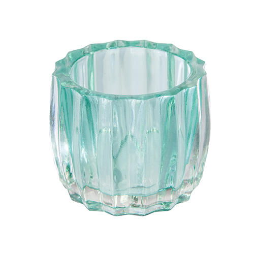 Assorted Coloured Ribbed Glass Votive T Light Tealight T