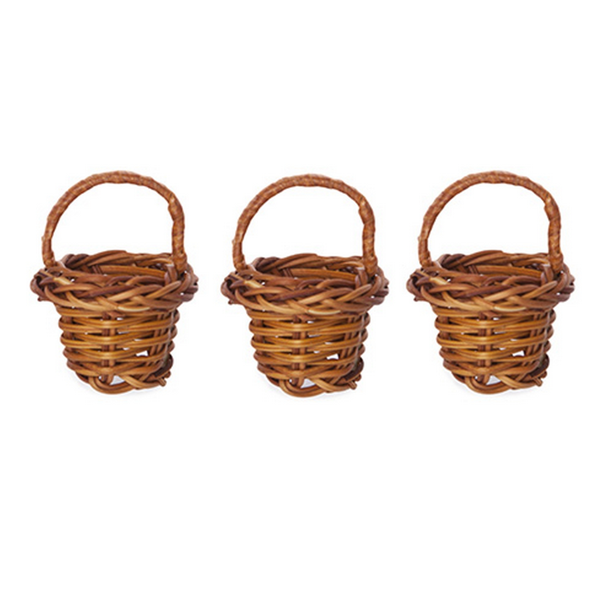 How To Weave A Mini Basket : Miniature woven wicker basket for crafting purposes