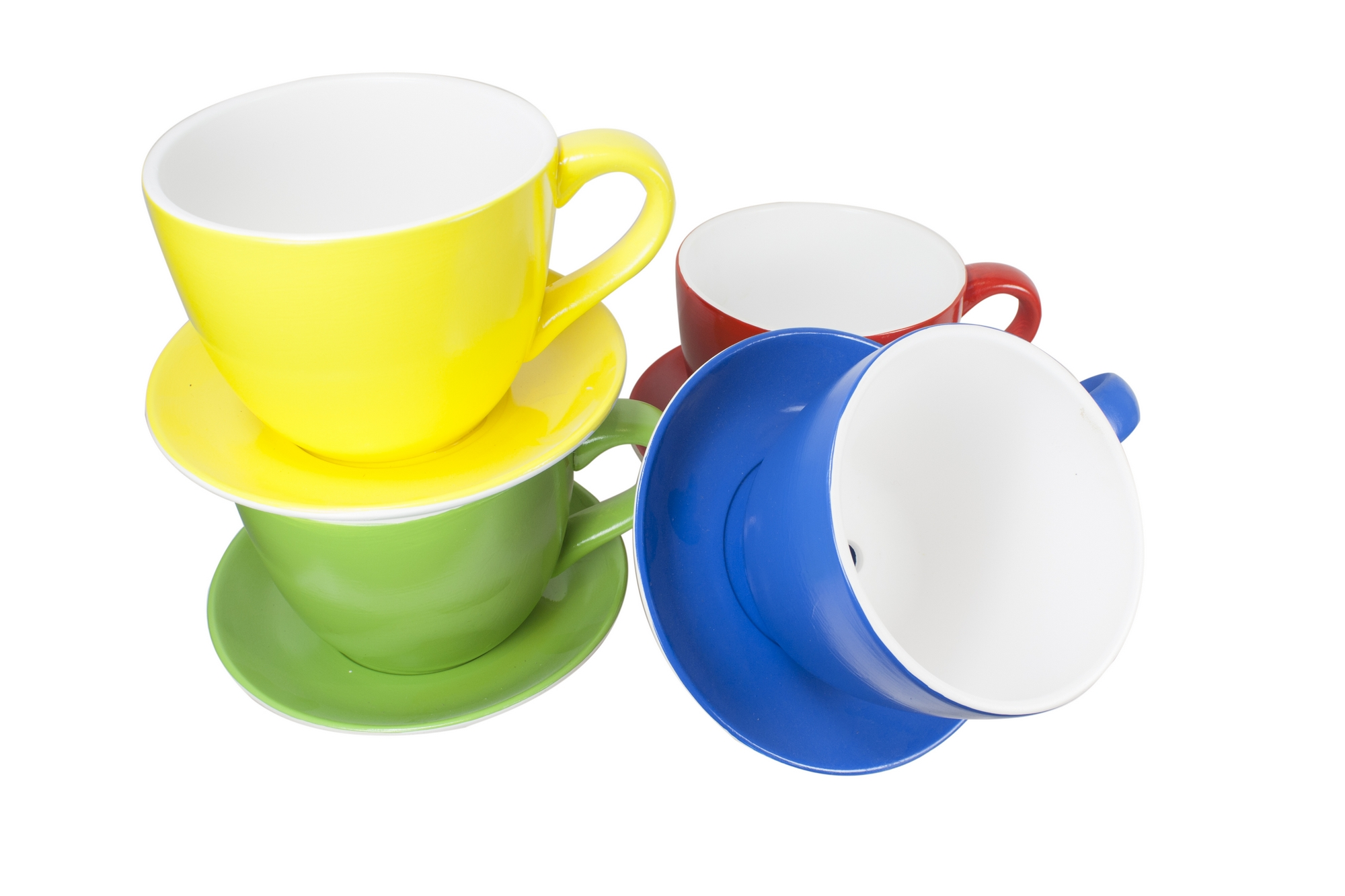 Bold Brightly Coloured Giant Ceramic Teacup Planter Tea Cup Kitchen Plant Pot Ebay