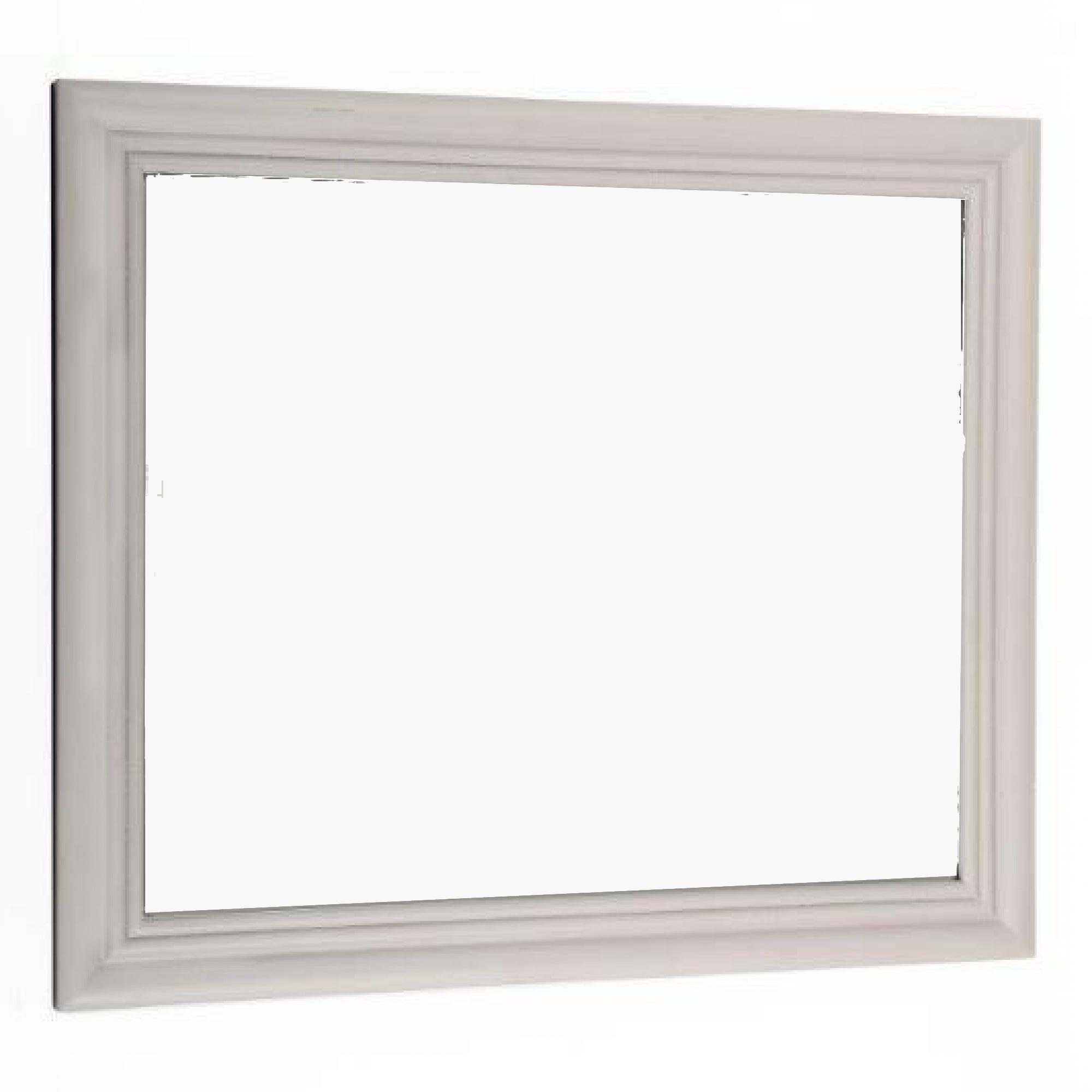 Plain & Simple Grey Bevelled Wall Mirror Wood Frame ... Plain Wooden Frame