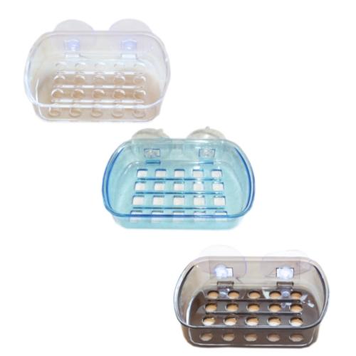 Plastic Suction Cup Shower Soap Holder | blendboutique