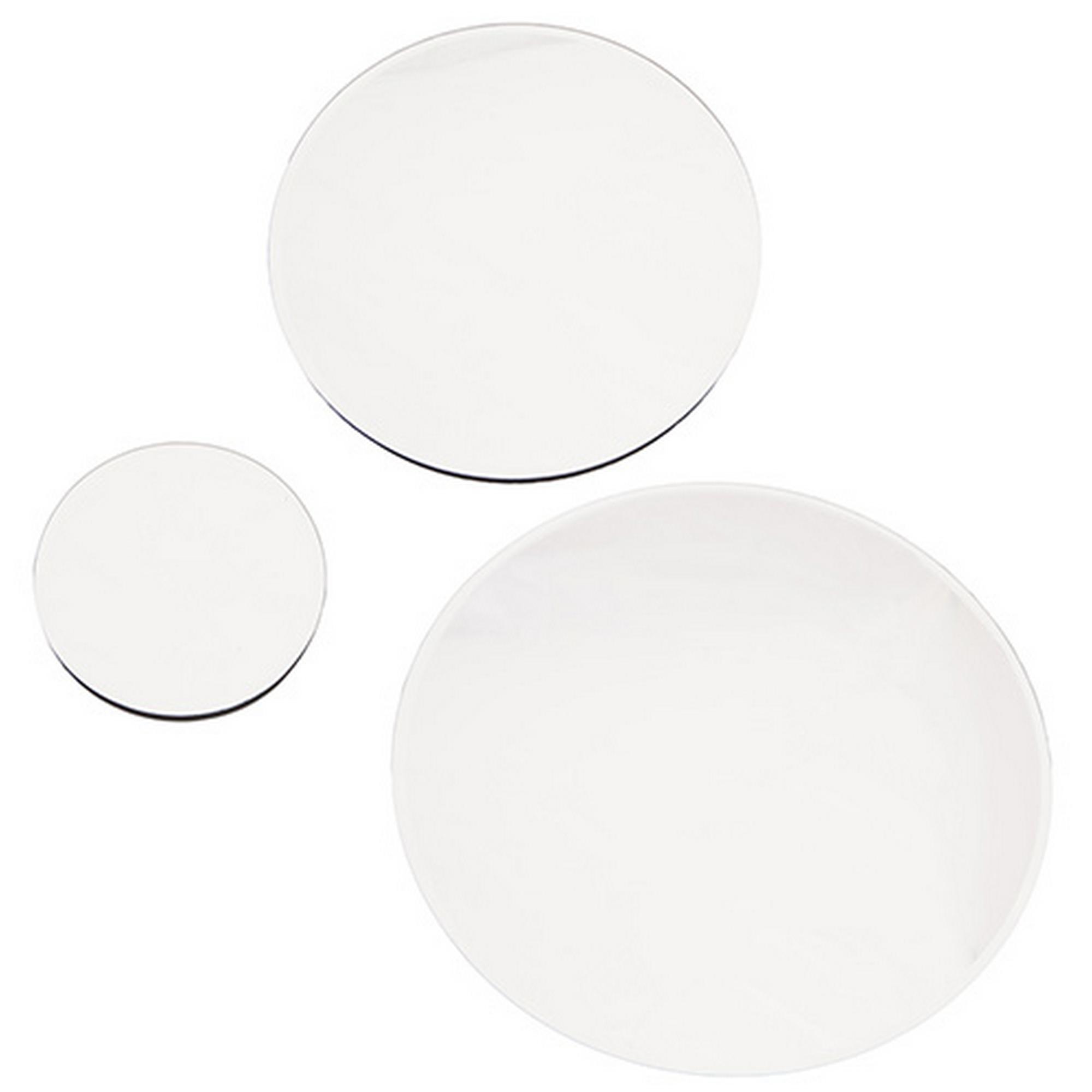 Grande assiette de table de mariage rond miroir 30cm 20cm for Miroir rond grand diametre