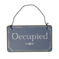 French vintage chic wc toilet occupied vacant sign ebay for Occupied bathroom sign