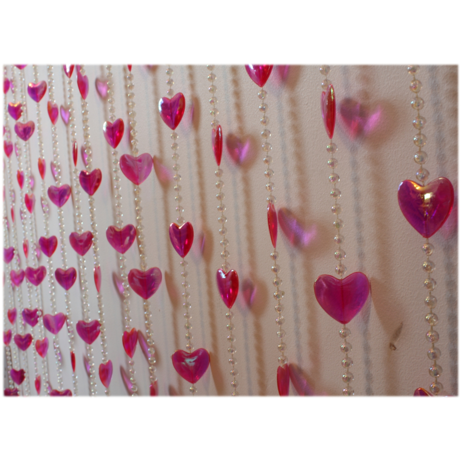Hanging Heart Beaded Door Curtain Room Divider Ebay