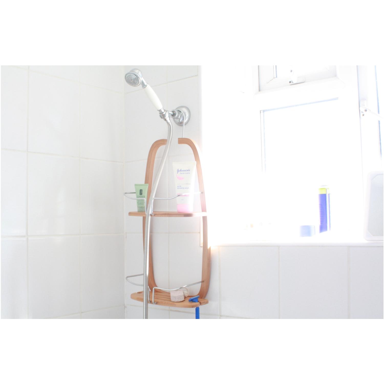 Estante para ducha ba o repisa colgante de bamb - Estante para ducha ...