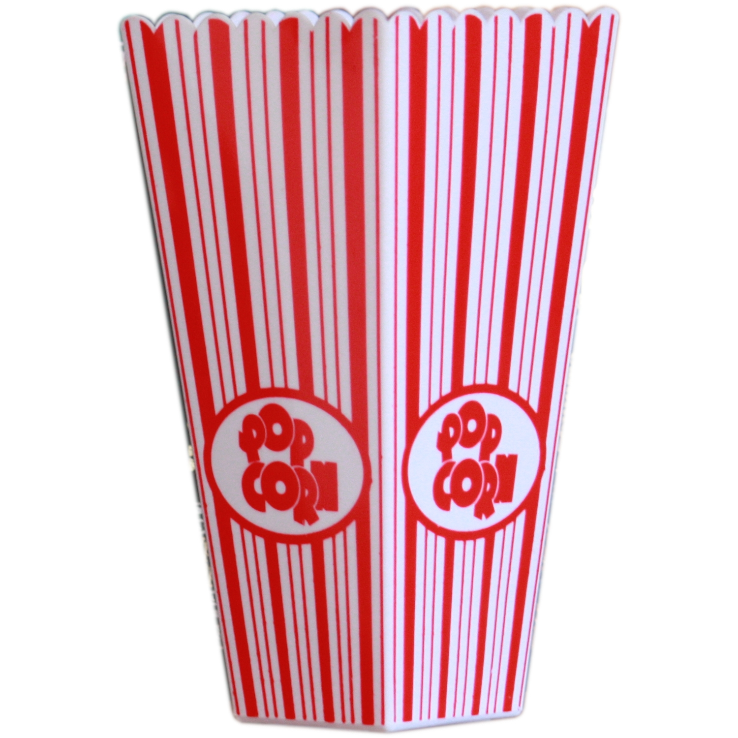 Striped Plastic Popcorn Holder Tub With 1x Bag 100g