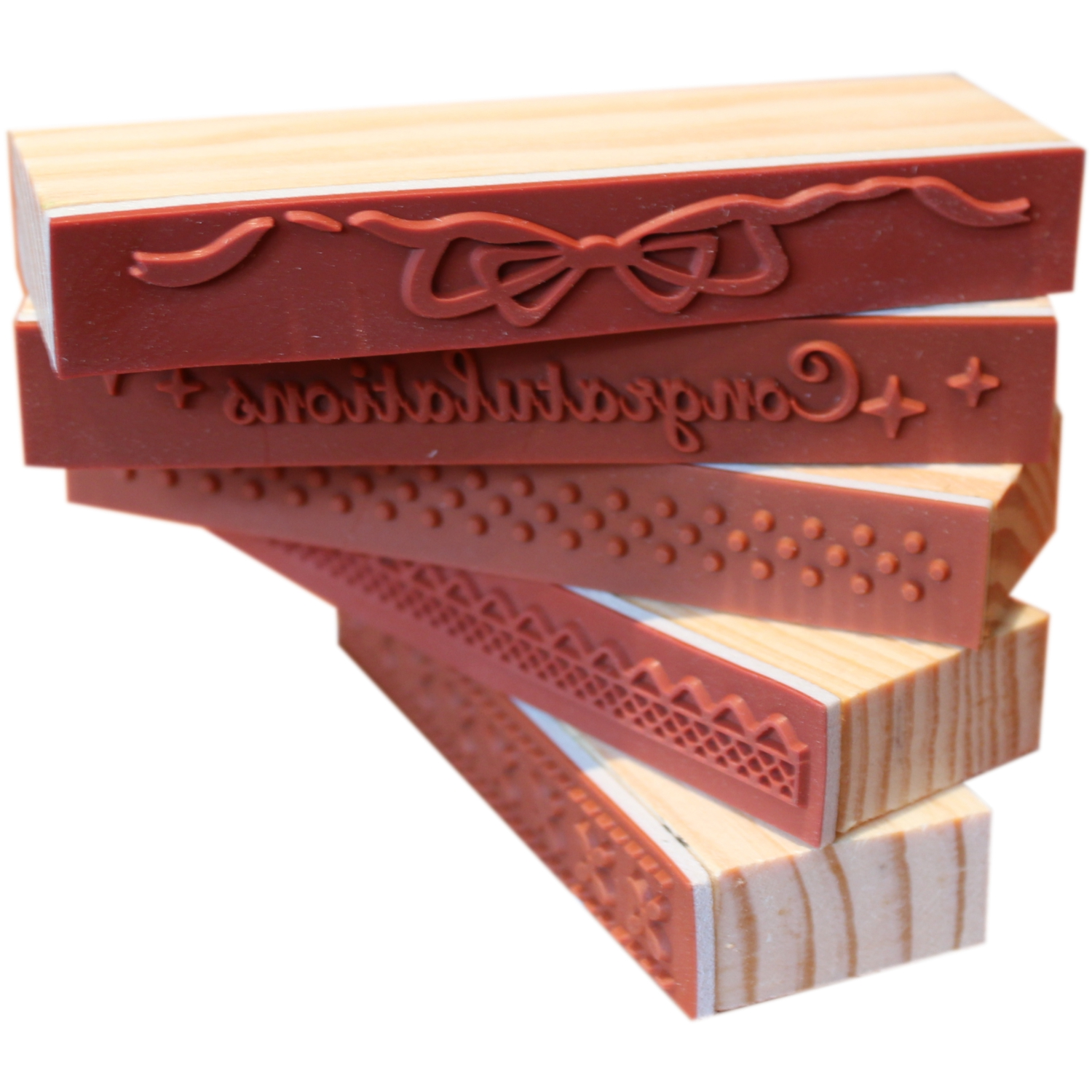 Wooden rubber arts and crafts stamp ebay for Rubber stamps arts and crafts