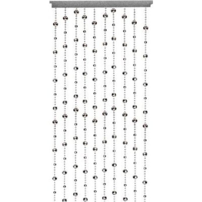 glamorous silver disco ball beaded hanging door curtain w. Black Bedroom Furniture Sets. Home Design Ideas