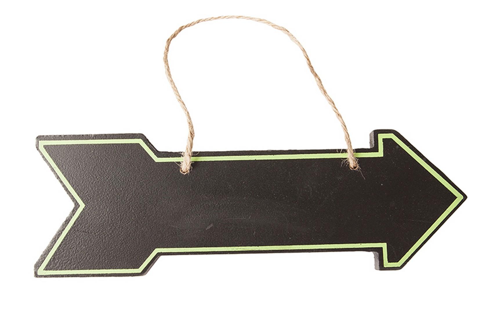Hanging Wood Chalkboard Arrow Sign, Black, 12-Inch ...  |Chalkboard Arrow Sign Plant