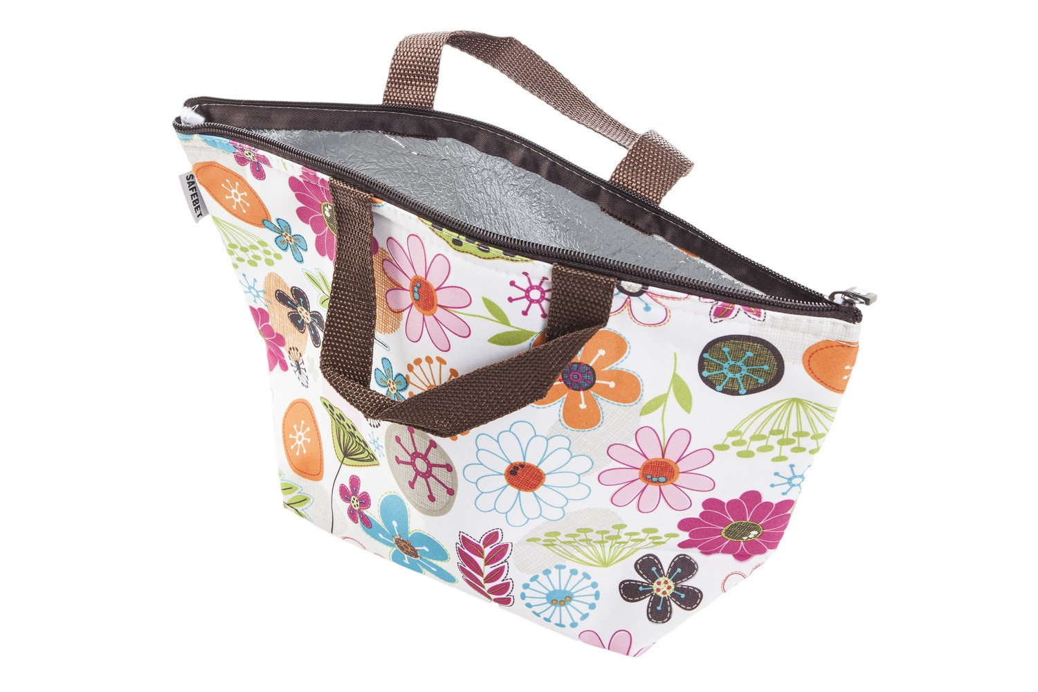 adults womens kids fold away fabric insulated lunch cool bag zipped closure ebay. Black Bedroom Furniture Sets. Home Design Ideas