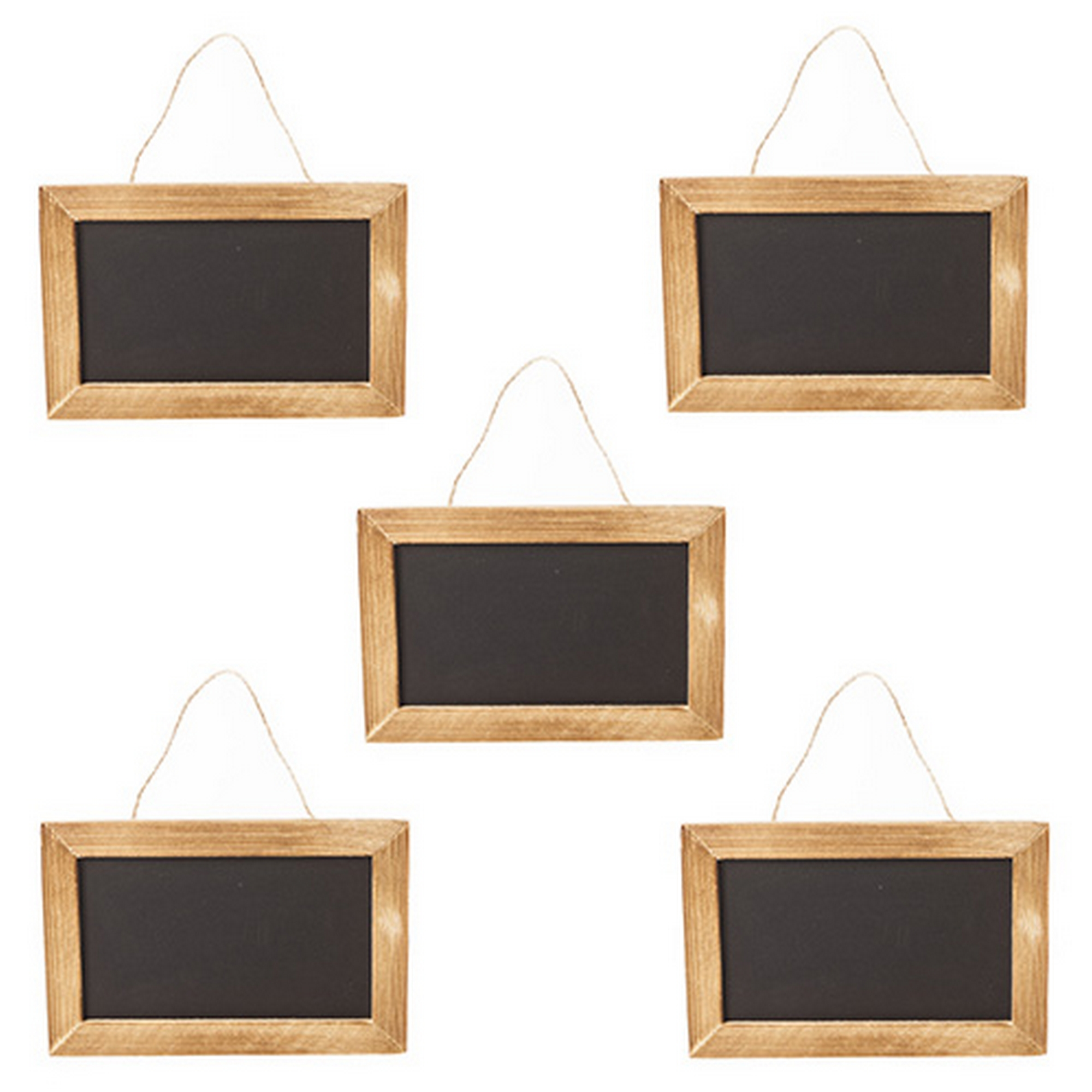 5x small rustic back of door hanging blackboard plaque for Wooden back door and frame