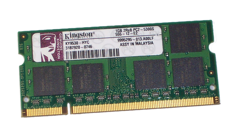Kingston KY9530-HYC 1GB PC2-5300S 667MHz 200-pin DDR2 SDRAM SO-DIMM Enlarged Preview