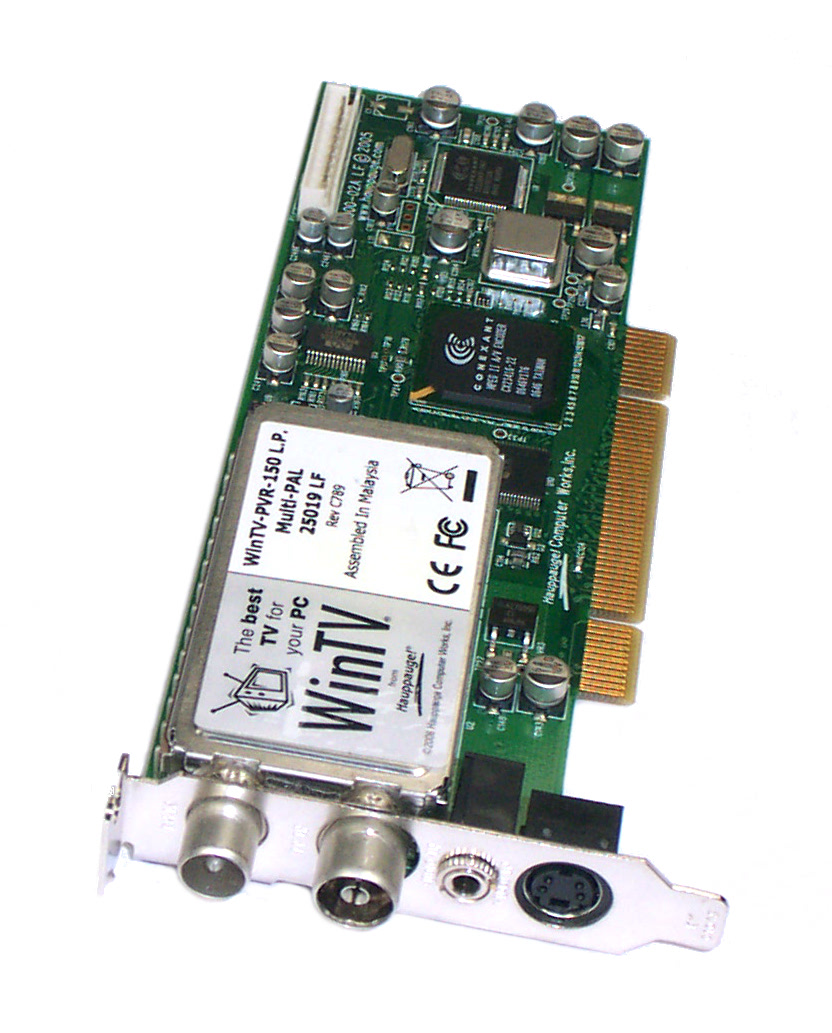 WINTV-PVR-150 L.P. Multi-PAL 25019 LF Low Profile TV Tuner PCI P/N 5188-5092 Enlarged Preview