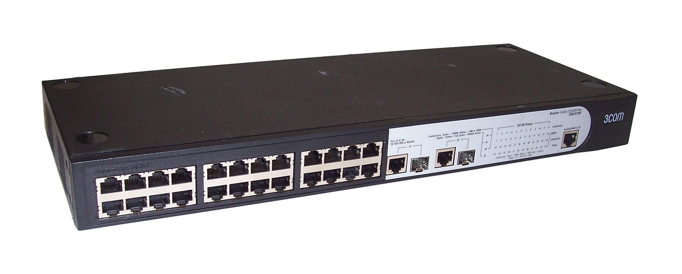 3com 3cblsf26h baseline 2226 sfp plus 24 ports switch ebay for 3 com switch