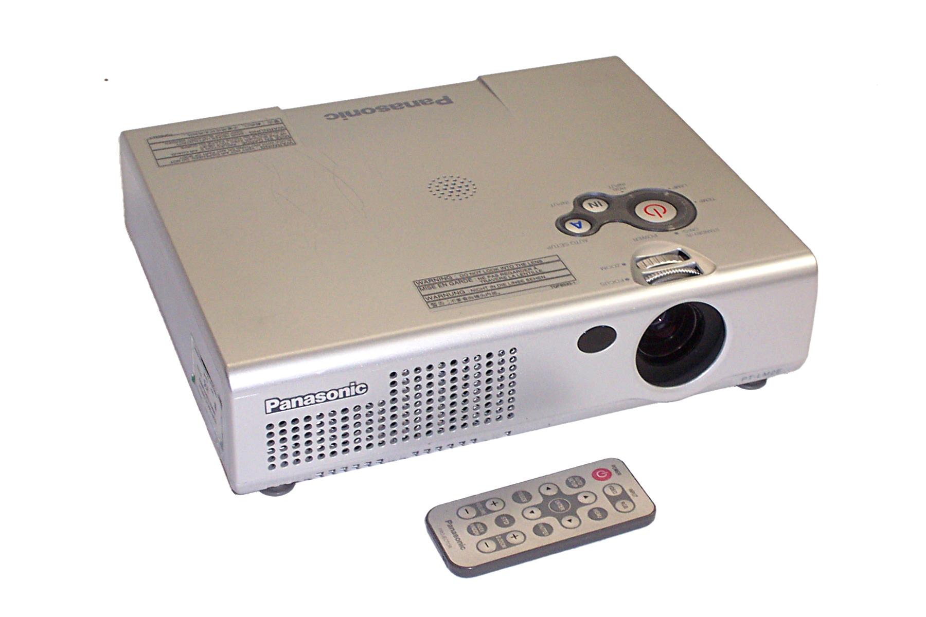 Panasonic pt lm2e 3lcd portable digital multimedia for Best portable digital projector
