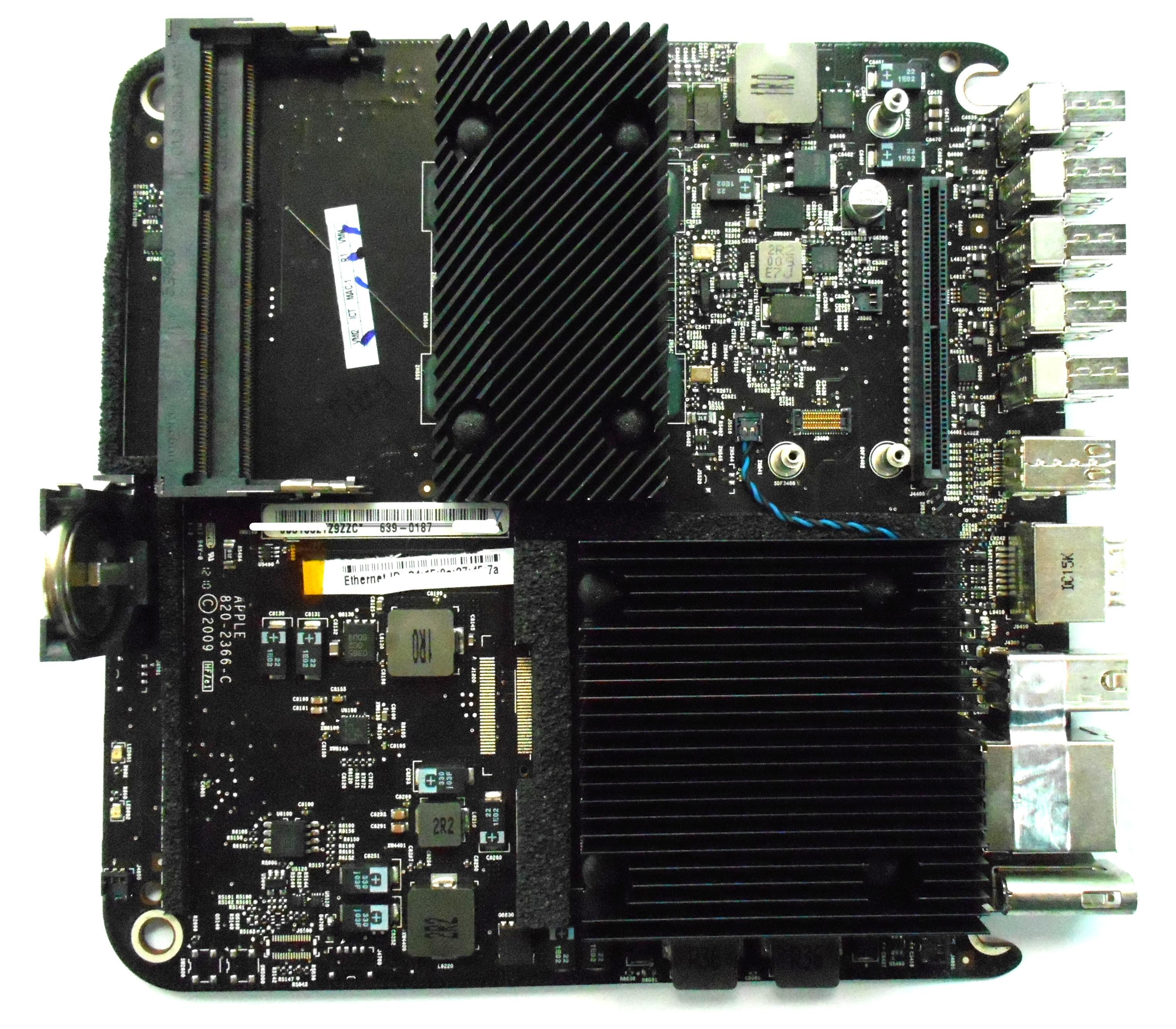 820-2366-C Apple Mac Mini A1283 2009 Intel 2.26GHz Logic /Motherboard - 639-0187 Enlarged Preview