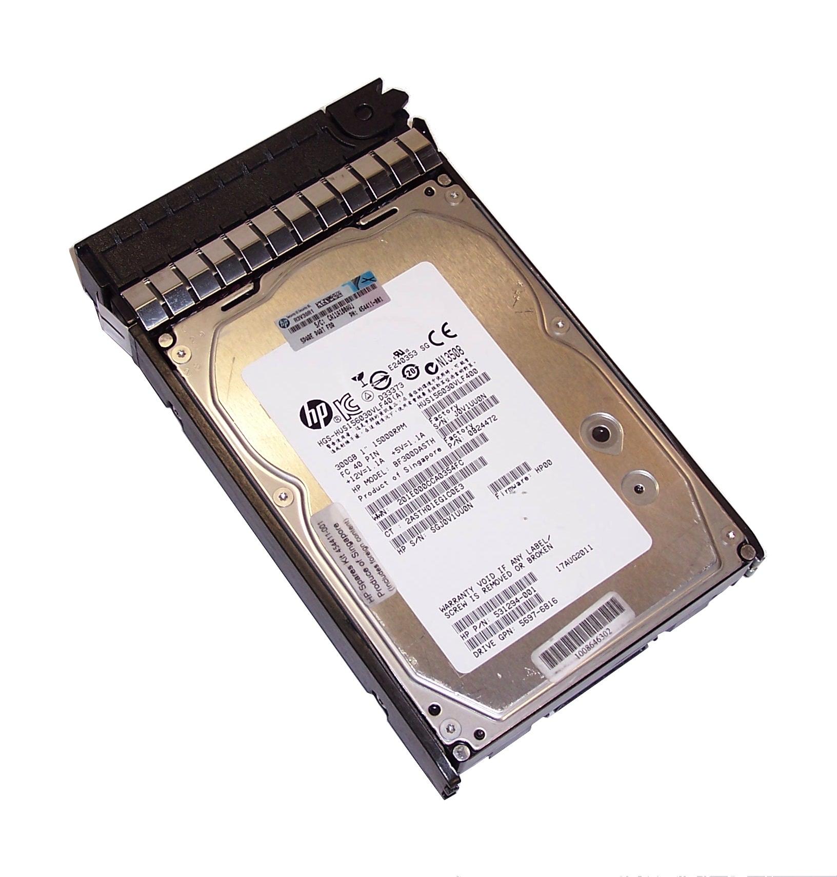 HP 454411-001 531294-001 BF300DASTH 300GB Dual Port 15K FC ...