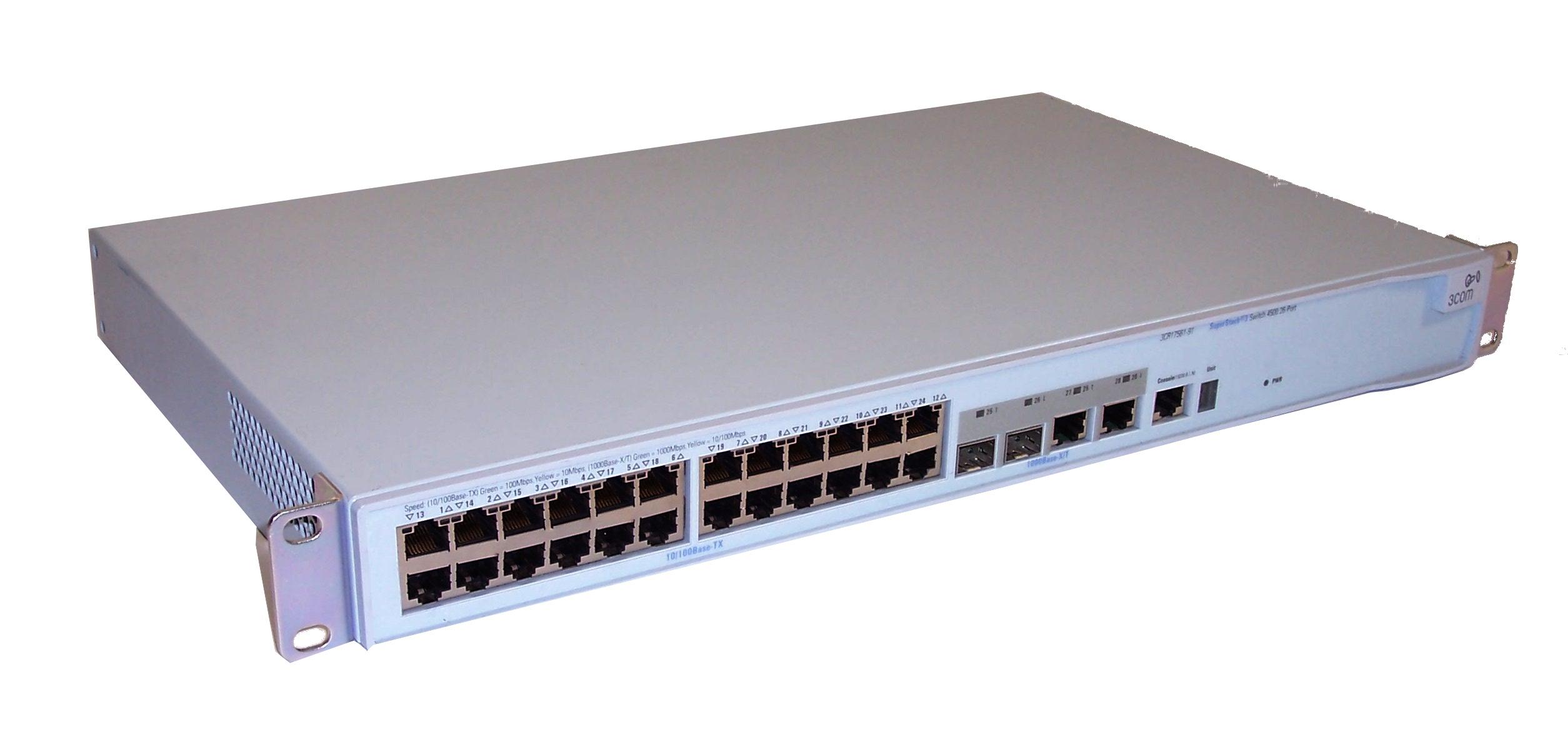 3com 3cr17561 91 superstack 3 4500 26 port switch ebay for 3 com switch