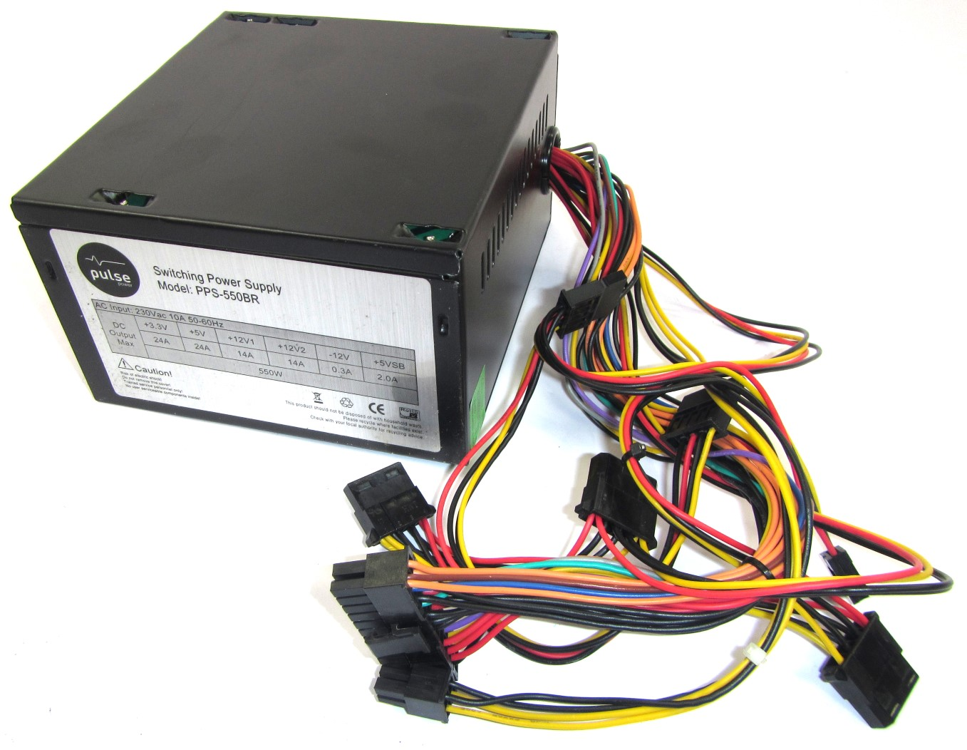 PPS-550BR Pulse 24-Pin 550W PSU Power Supply Unit Enlarged Preview