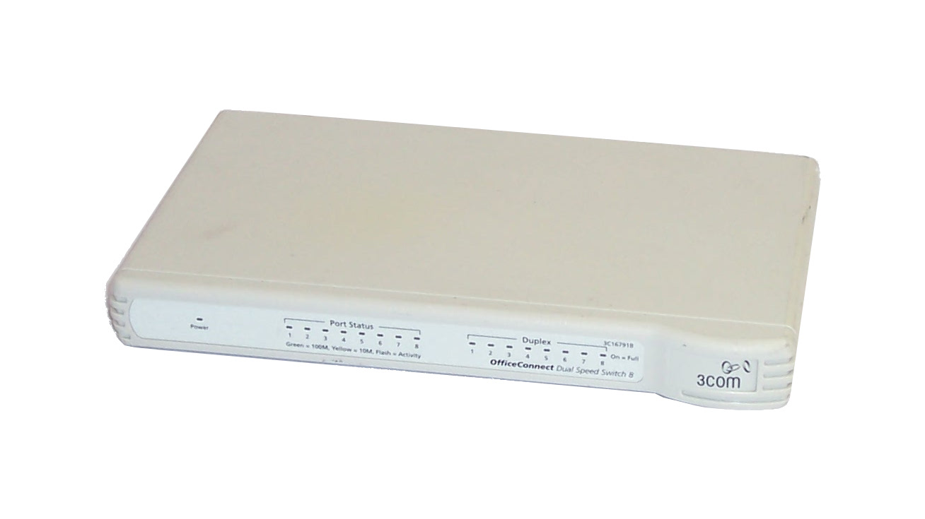 3com 3c16791b officeconnect 8 port dual speed switch 8 no for 3 com switch