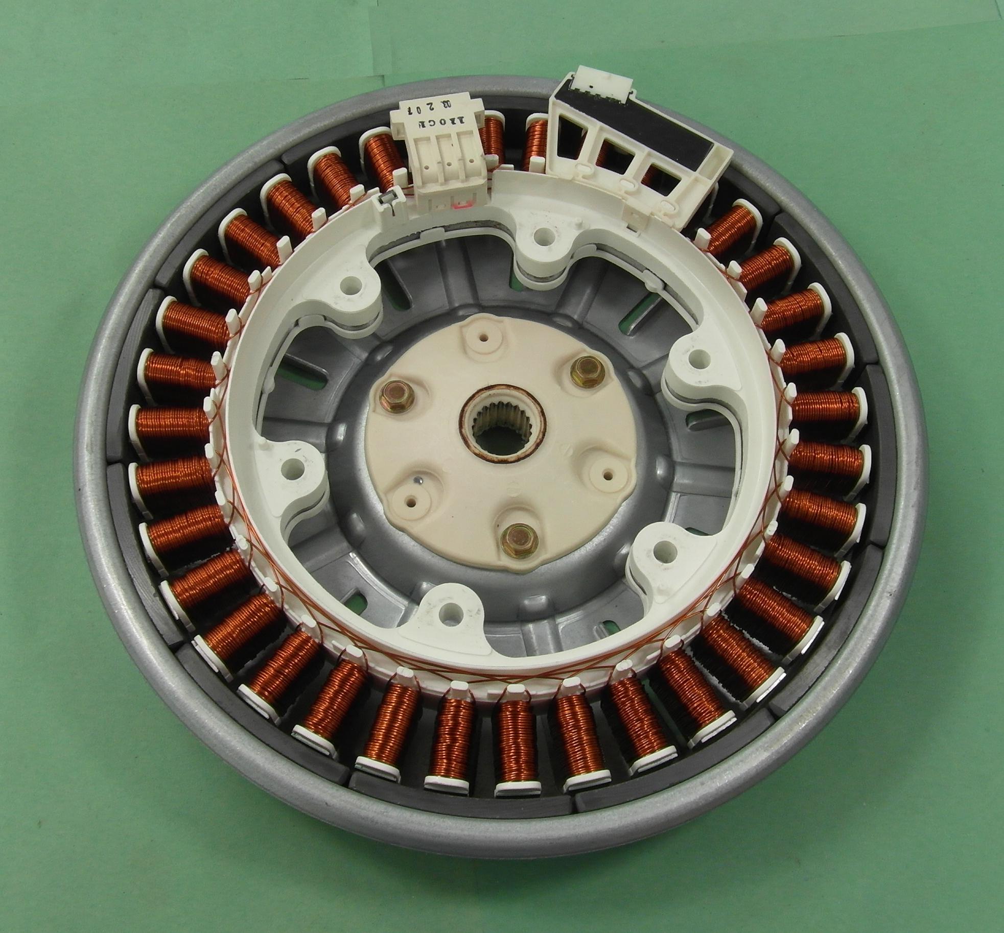 Lg wm 1480fhd washing machine direct drive rotor stator for Direct drive motor washing machine