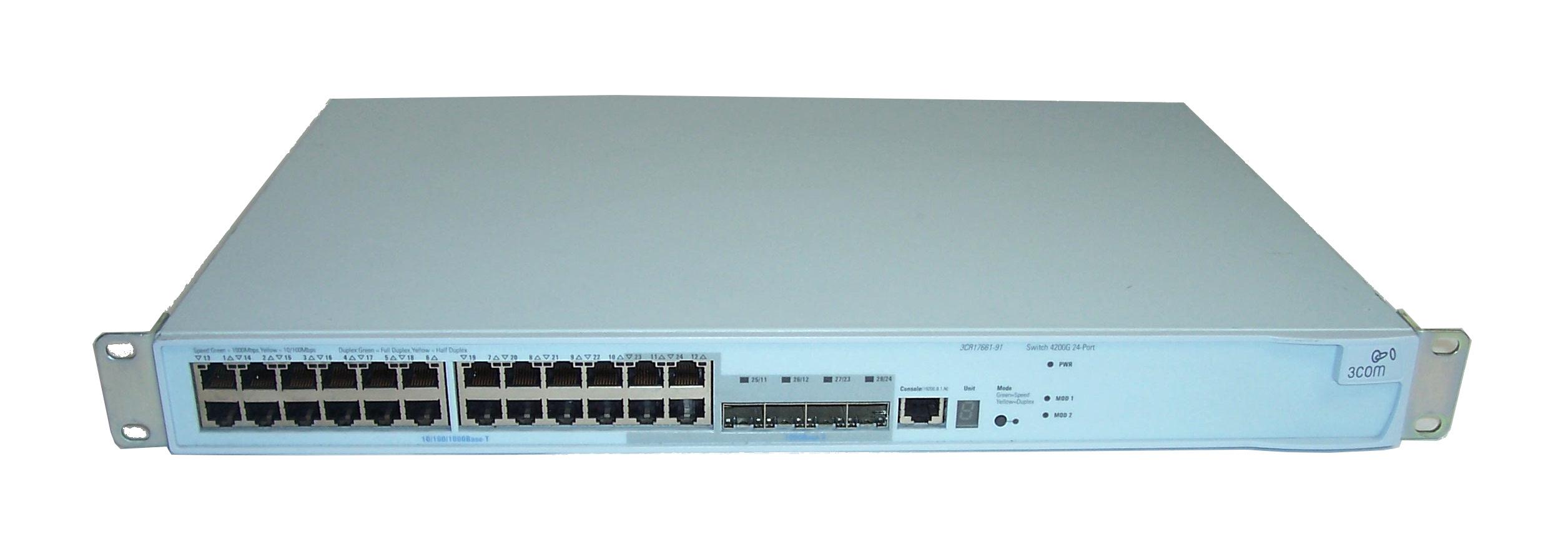 3com 3cr17661 91 4200g os 24 port gigabit for 3 com switch