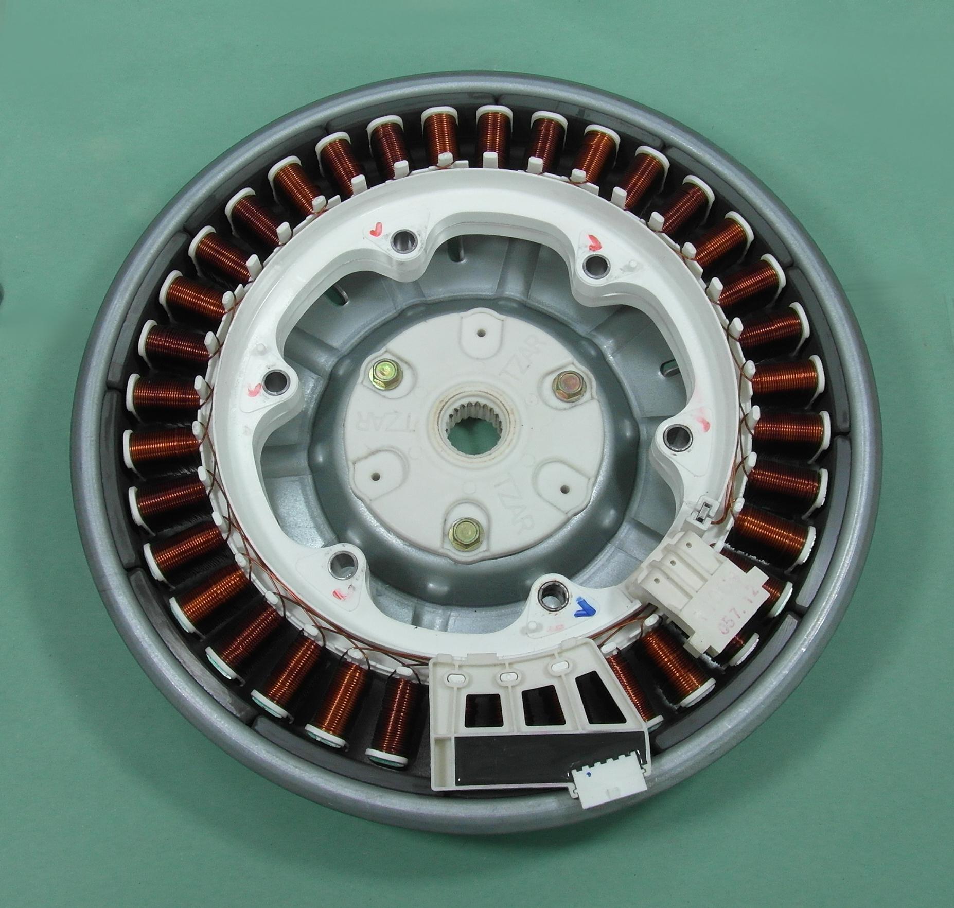 Lg wm 12392td washing machine direct drive rotor stator for Direct drive motor washing machine