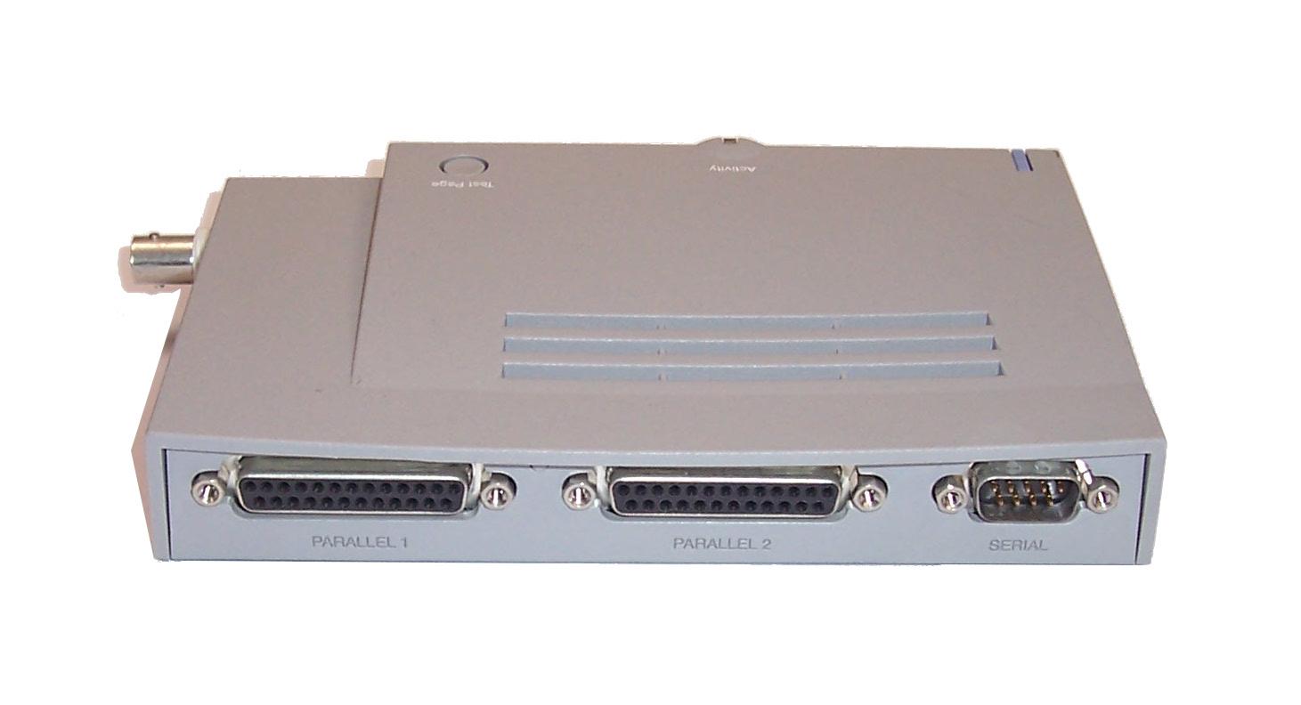 Intel 728398 003 netportexpress 10 10base t parallel serial port print server ebay - Parallel port and serial port ...