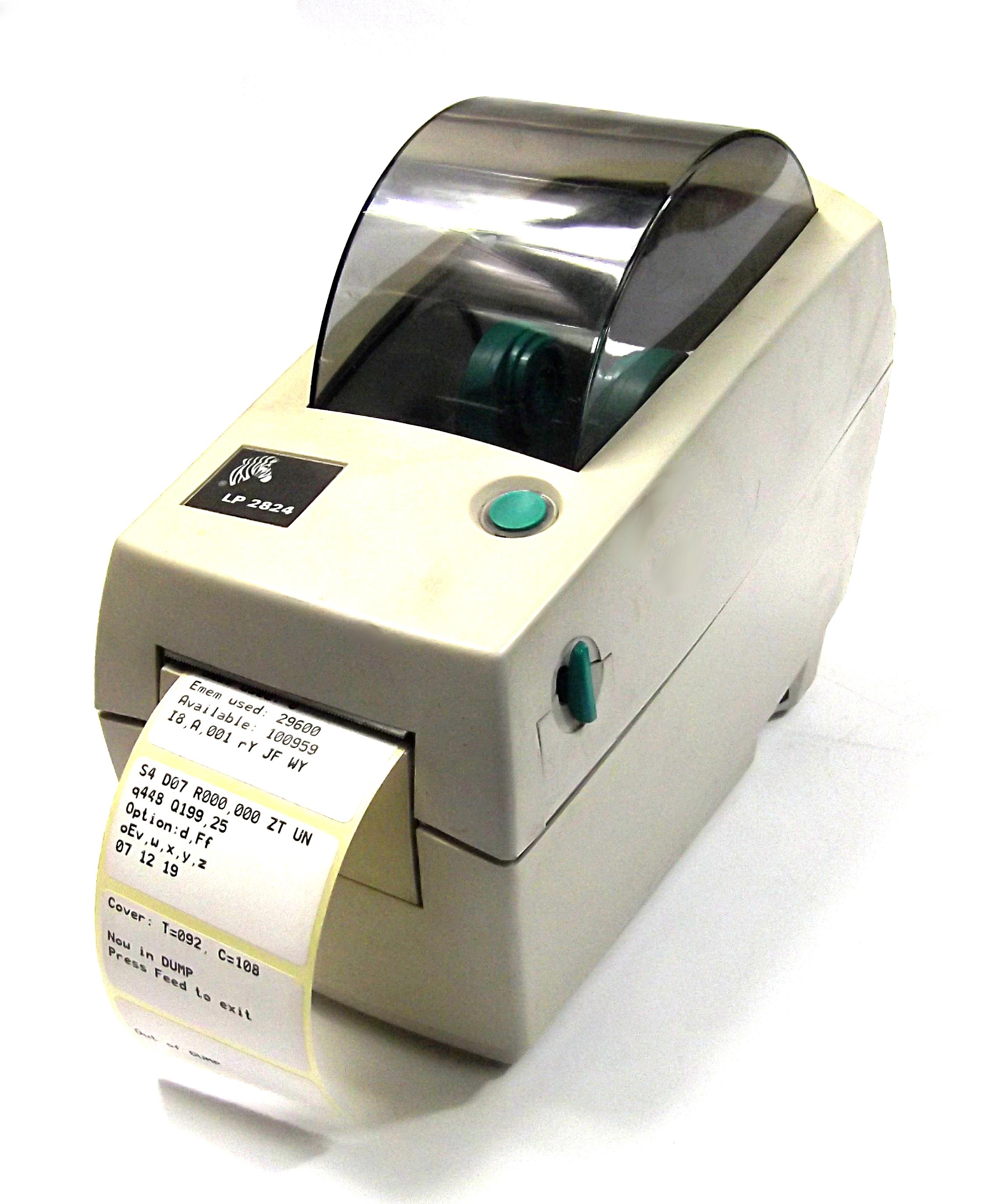 Zebra LP2824 Thermal Label Printer No AC Adapter - 2824 ...