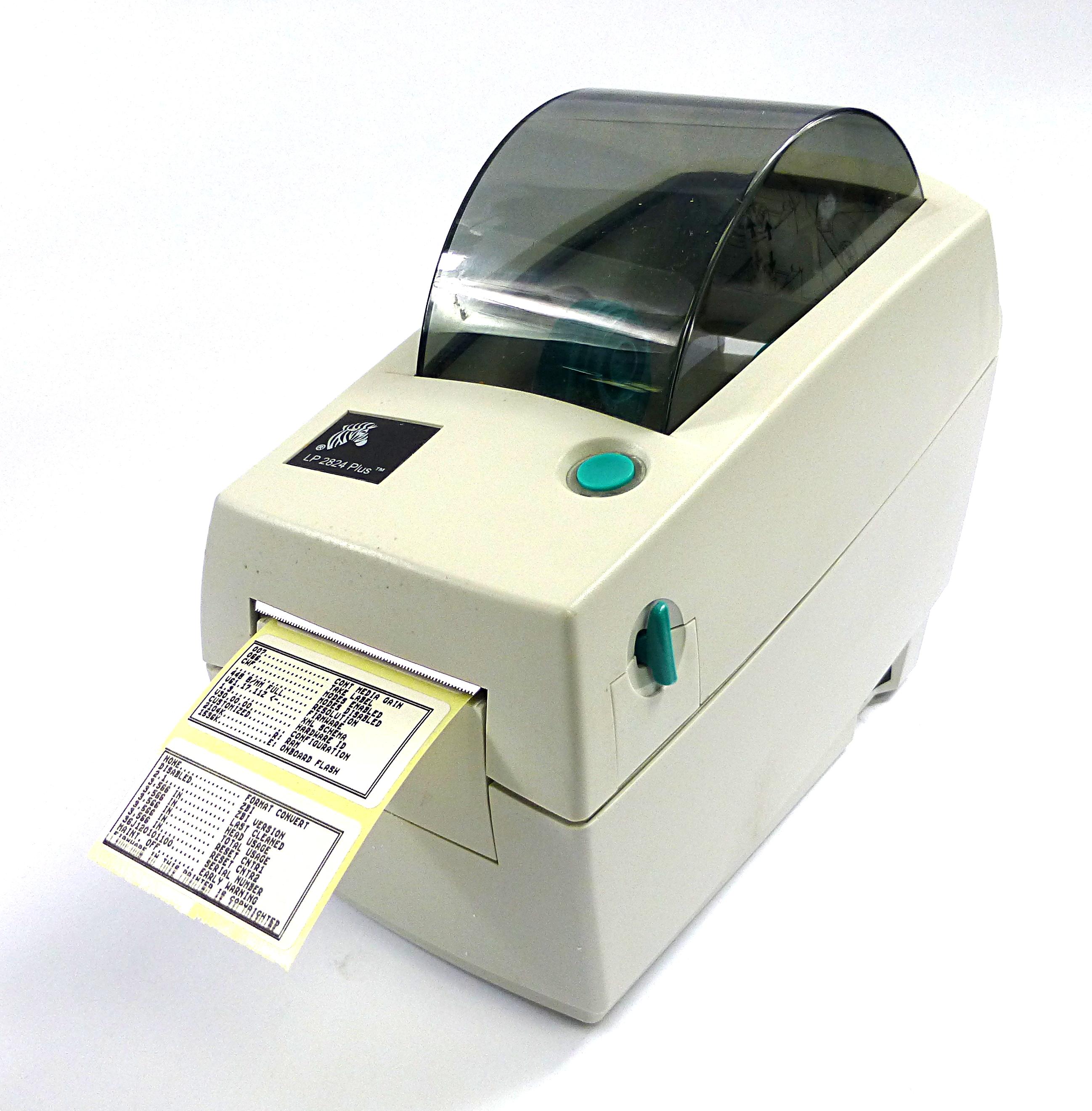 Zebra LP2824 Plus Thermal Label Printer No AC Adapter ...