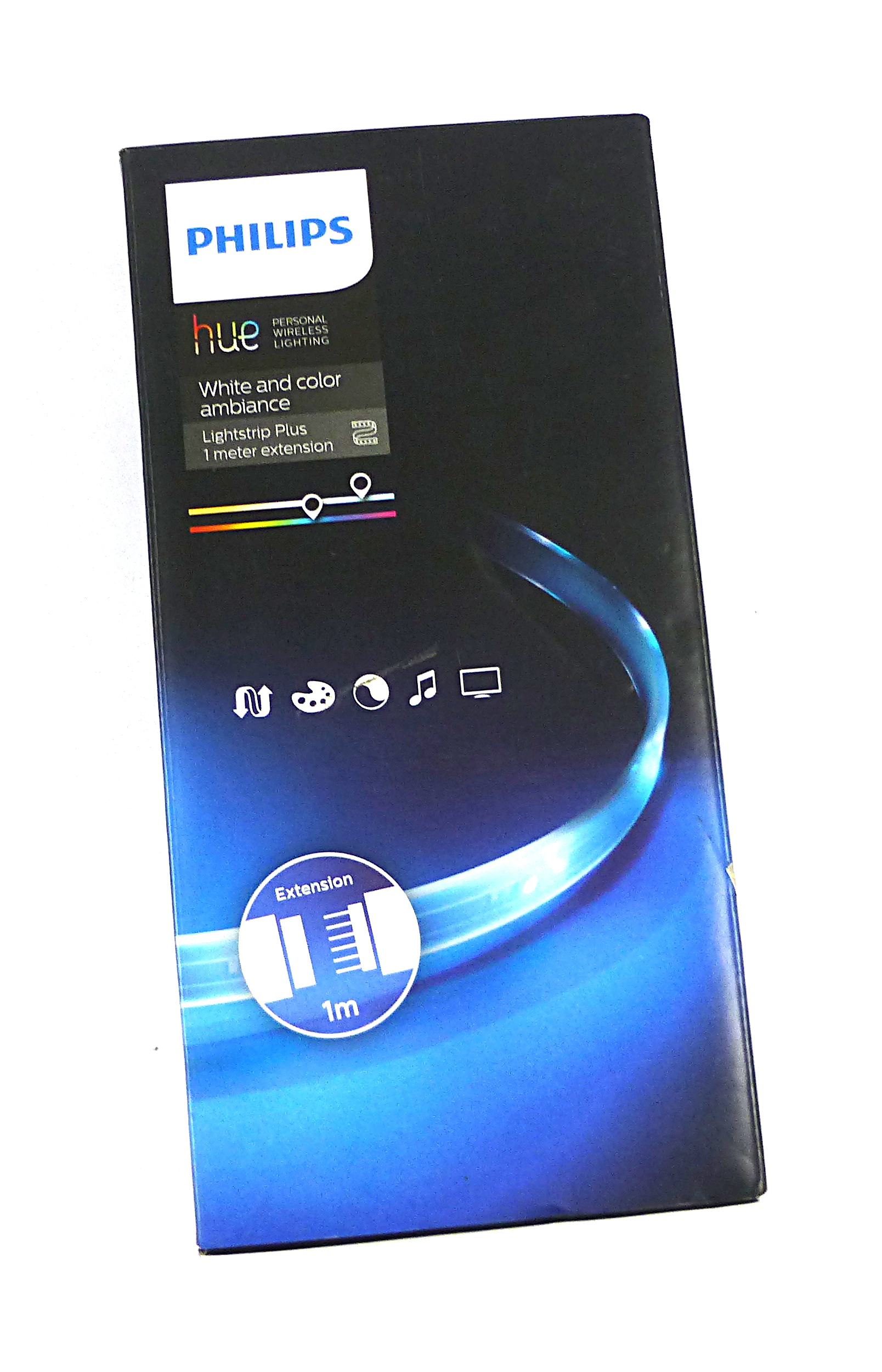 philips hue 71902 55 ph white and colour ambience lightstrip plus 1m extension ebay. Black Bedroom Furniture Sets. Home Design Ideas