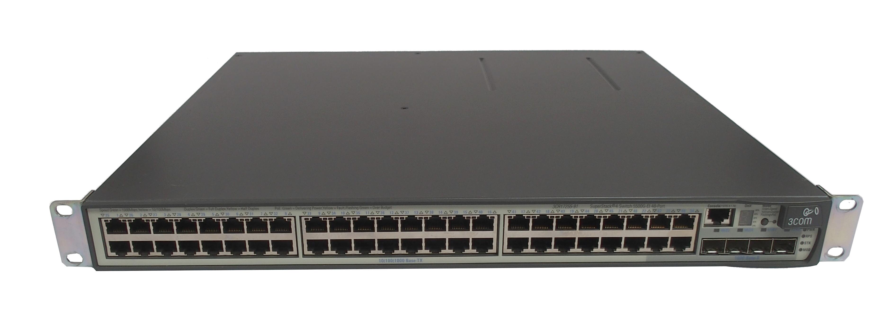 3com 3cr17251 91 3cr17255 91 superstack 4 5500g ei 48 port for 3 com switch