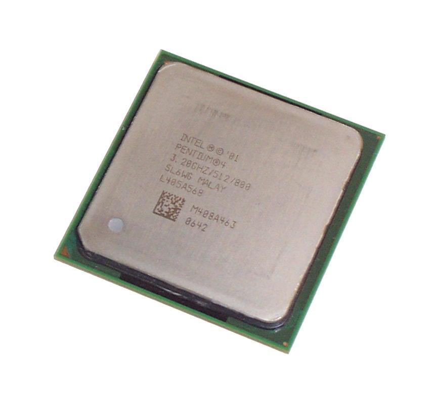 Intel SL6WG Pentium 4 3.2GHz 800MHz 512KB Socket 478 Processor Enlarged Preview