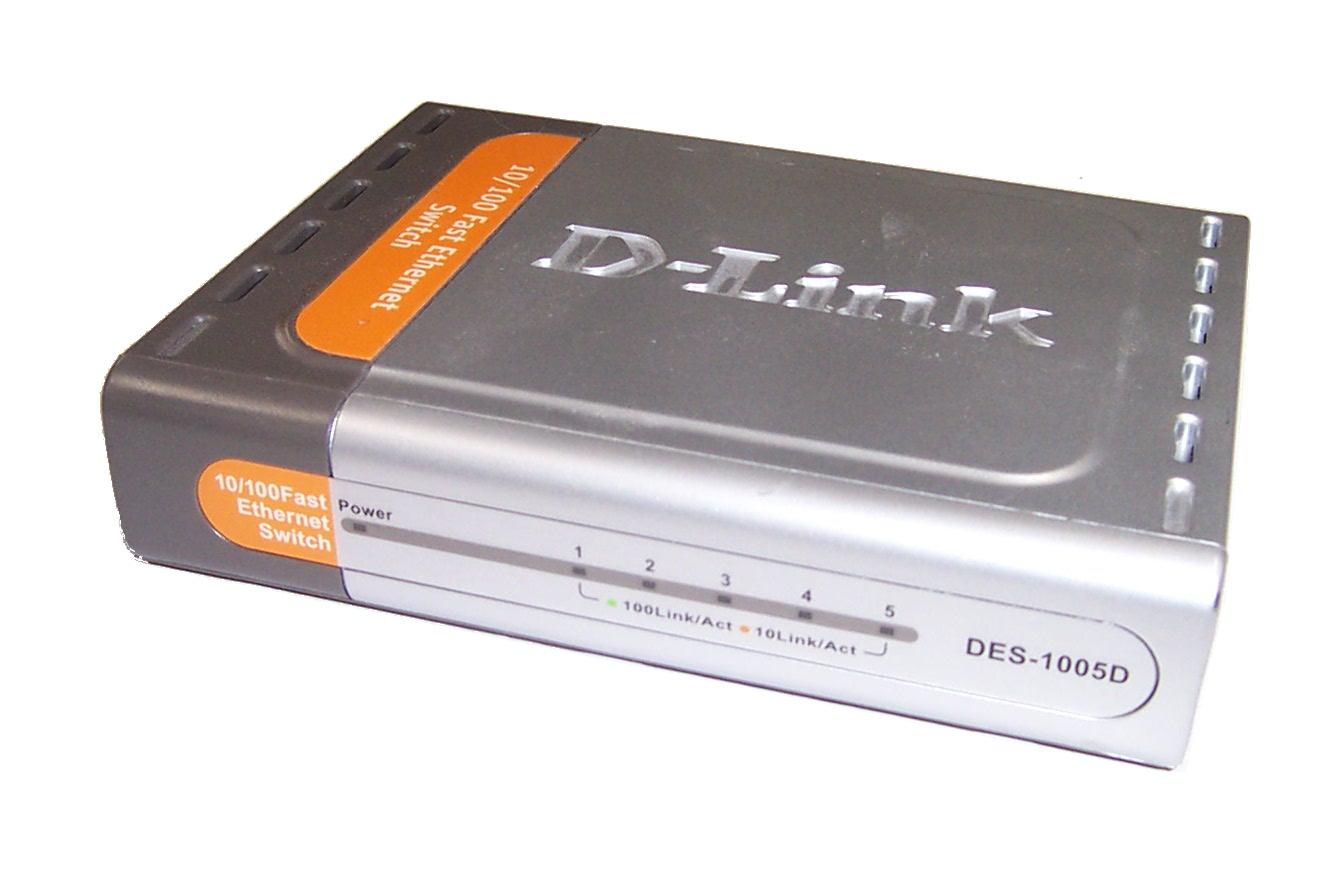 d link des 1005d 5 port 10 100 fast ethernet switch no. Black Bedroom Furniture Sets. Home Design Ideas