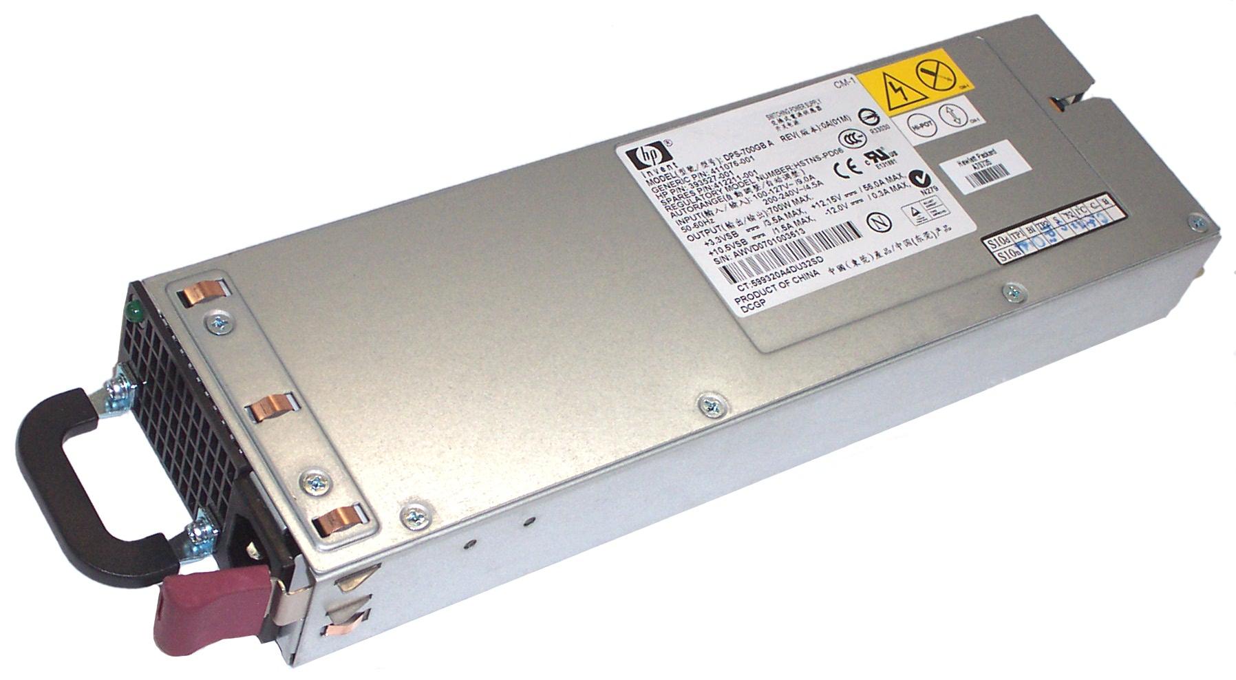 Hp 412211 001 Proliant Dl360 G5 700w Power Supply 393527