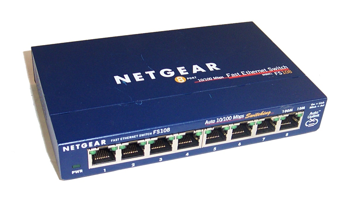 Netgear fs108 v2 8 port 10 100mb s fast ethernet switch no power supply ebay - 8 port fast ethernet switch ...