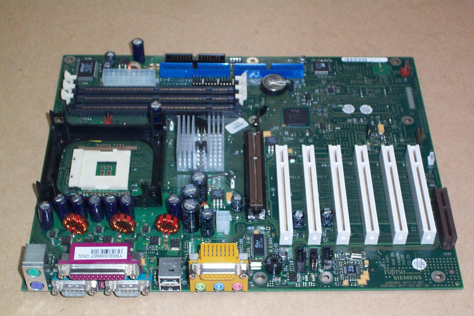 Fujitsu mother board W26361-W65-X-04 Z2-05-36 D1567-C33 GS6