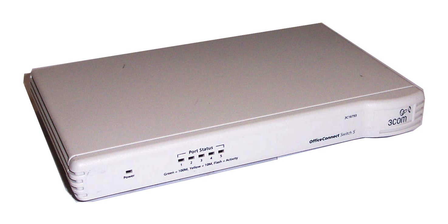 3com 3c16793 officeconnect 5 port switch 5 no ac adapter for 3 com switch
